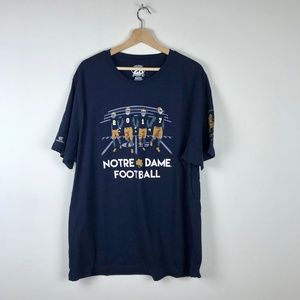 Notre Dame Football Short Sleeve Graphic Tee 2XL